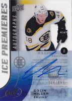 15-16 UD Ice Colin Miller /499 Auto Premieres Autographs Bruins 2015