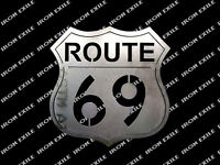 Route 69 Sign Garage Wall Art Metal Sign Decor Mancave Highway USA Gift Idea