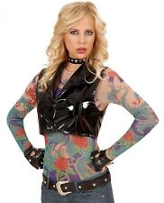 Angel wings tattoo shirt punk rocker rock chic motard femmes costume robe fantaisie