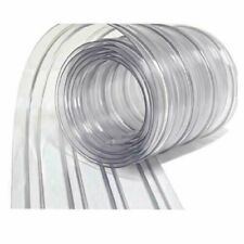 "Resilia Plastic Vinyl Strip Curtain Coolers Warehouse Doors 8"" X150"" Roll Clear"
