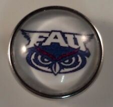 FLORIDA ATLANTIC FAU Snap College Jewelry 18mm University Fits Ginger Snaps