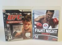 UFC Undisputed 2009 & FIGHT NIGHT round 3(PS3, Sony PlayStation 3)  Game Lot.