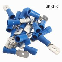 100PCS Male Insulated Spade Electrical Wire Crimp Terminal Connector 16-14AWG