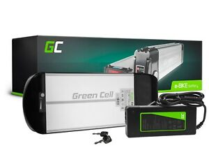 E-Bike Akku 36V 10Ah Li-Ion Fahrrad Rear Rack Batterie mit Ladegerät