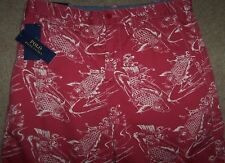 "NWT Polo Ralph Lauren Nantucket Red Koi FISH Board Shorts RELAXED FIT 34"" Waist"