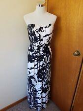 NWT Sheike black white strapless maxi dress size au 6