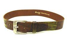 G1-68 Gürtel Leder braun 80 cm Jeansgürtel Hosengürtel Briccino Krokolook NEU