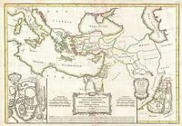 MAP ANTIQUE 1771 BONNE BIBLE NEW TESTAMENT PLACES REPLICA POSTER PRINT PAM0218