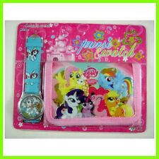 My Little Pony Children's Kids Girls Wrist Watch Wallet Set For Christmas Gift