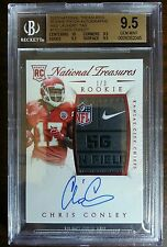2015 National Treasures Chris Conley Auto NFL Logo Patch RC SP /3 BGS 9.5 10