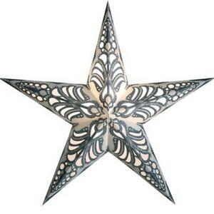Starlightz Stern Geeta silber Leuchtstern Papier Weihnachtsstern Newstalgie