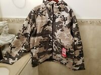 THE NORTH FACE M MILLERTON JKT URBAN EXPLORE Jacket Hooded Size 2XL Camo