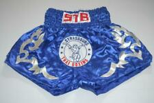 SHINY BLUE & SILVER STB THAI BOXING STRASBOURG SHORTS MEDIUM MENS