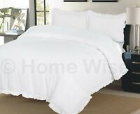 PLAIN FRILLED EDGE SET BEDDING DUVET SET QUILT COVER SET BEDDING PILLOW CASE