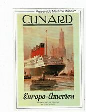 POST CARD A MERSEYSIDE  MARITIME MUSEUM CARD CUNARD