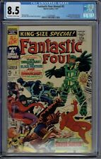 CGC 8.5 FANTASTIC FOUR ANNUAL #5 PSYCHO-MAN 1ST APP SOLO SILVER SURFER OW/W PGS