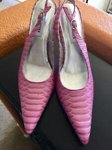 Steve Madden Shoe Tornadoe Pink With Silver Heels Size 8 New