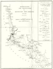 KENTUCKY INDIANA. USCGS Triangulation. Louisville Indianapolis 1881 old map