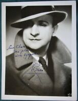 French Film Actor Robert Pizani antique signed photograph