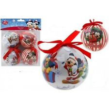 pack of 4 disney mickey mouse 8cm christmas tree decorations baubles new