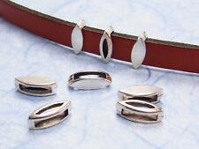 10 Metallperlen 6x6x1mm silberfarbig Perlen 10357