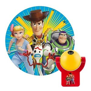 Projectables Disney Toy Story 4 LED Night Light, Plug-In, Dusk-to-Dawn, for...
