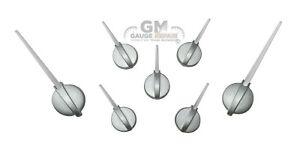 Speedometer Gauge Cluster Needle Set GM 03-06 7pc Satin Hub White Pointer Custom