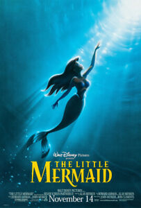 THE LITTLE MERMAID MOVIE POSTER 2 Sided ORIGINAL Advance ROLLED VF 27x40
