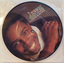 """DAVID JOSEPH - Let's Live It Up 7"""" Vinyl *PICTURE DISC* *MINT* (P&P OFFER!)"""