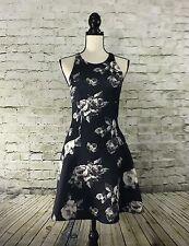 Abercrombie & Fitch Juniors Summer Scuba Sundress Navy w/ Floral Print Size M