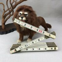 Lufkin 1066D Vintage Wood 6 Ft. Rugged Engineers Folding Ruler w Red Ends