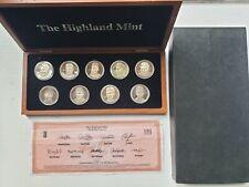 1996 MLB Highland Mint RARE Set 9 - Bullion .999 Silver Coins - Only One on Ebay