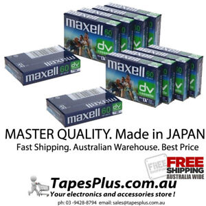 10 x MiniDV DVM tape Video Cassette Mini DV Camcorder Tape MADE IN JAPAN