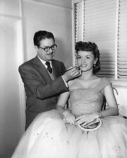 Debbie Reynolds & Make Up Artist William J. Tuttle 8X10 Publicity Photo (Zy-700)