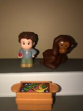Fisher Price Little People Zoo Replacements: Zoo Keeper Monkey Food Crate