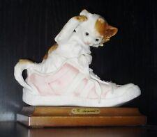 Vintage 00004000  G. Armani Cat Figurine Beautiful Shoe Design Capodimonte Italy