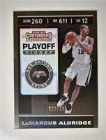 2019-20 Contenders Playoff Ticket #68 LaMarcus Aldridge /199 - San Antonio Spurs
