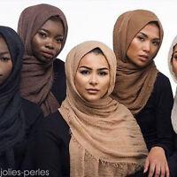 180x100cm Premium Viscose Maxi Crinkle Cloud Hijab Shawl Islam Muslim Scarf
