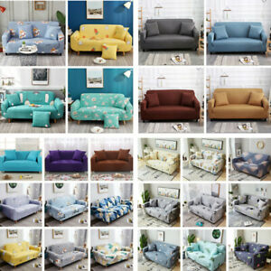 1/2/3/4 Seater Stretch Chair Sofa Covers Couch Cover Elastic Slipcover Protector