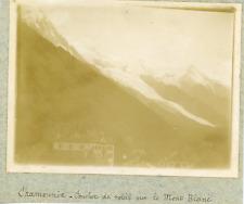 France, Chamonix, Coucher de soleil sur le Mont Blanc, ca.1900, vintage citrate