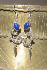 ORECCHINI IN STILE LIBERTY lapislazzuli blu pietre d AMICIZIA ARGENTO 925
