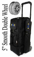 KAZE SPORTS Flagship 3 Ball Bowling Roller Tote Bag with Double Smooth PU Wheels