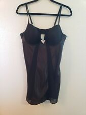 Morgan Taylor Intimates Bridal Sexy Lingerie black chemise underwire and lace XL