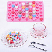 Silicone Mini 55 Heart Cake Chocolate Cookie Baking Mould BakingTray Jelly F3O7
