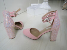 Dorothy Perkins NEW BNWT Size 8 Pink Glitter Look Top ASOS Shop Dress Heel Shoes