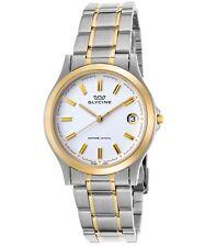 Glycine Men's White Dial Stainless Steel Swiss Quartz Watch 3690-31-SAP-MB