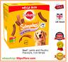 Pedigree Schmackos Dog Treat Beef, Lamb and Poultry 110 Sticks 790 g Mega Pack