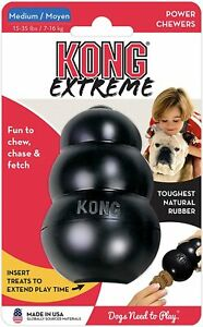 KONG Extreme Black Dog Chew Toy Tough Power Chewers Medium Breeds