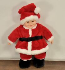 "Anne Geddes 1999 Santa Chistmas Baby Doll Santa Suit 19"" Holiday Plush"