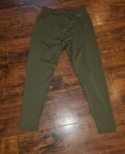4 Mens XGO Technical Apparal Acclimate Dry Fit Base Pants Size M Medium Green
